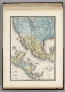 Mexique, Republique de l'Amerique Centrale, Sud-Ouest Etats-Unis.