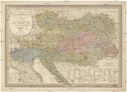 Neueste General-Post- & Strassen- Karte der Oesterreichischen Monarchie