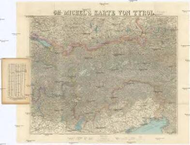 Ch. Michel's Karte von Tyrol