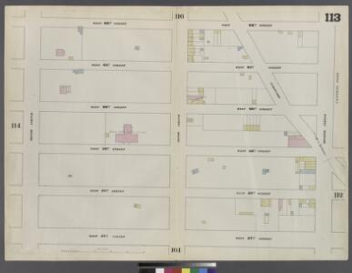 Plate 113: Map bounded by West 62nd Street, Eighth Avenue, West 57th Street, Tenth Avenue