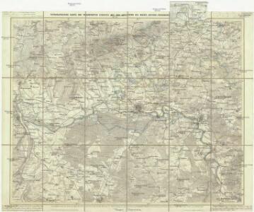 Topographische Karte des Frankfurter Gebietes mit der Umgegend bis Mainz, Idstein, Friedberg, Aschaffenburg u. Darmstadt