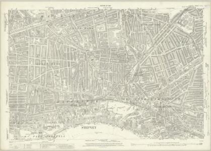 London (1915- Numbered sheets) V.12 (includes: Bermondsey; Stepney) - 25 Inch Map