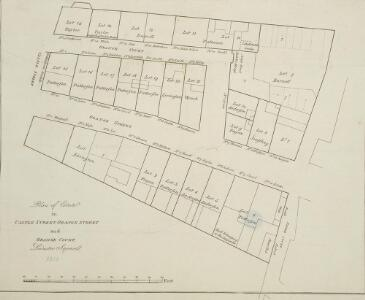 Plan of the Estate in Castle Street, Orange Street and Orange Court