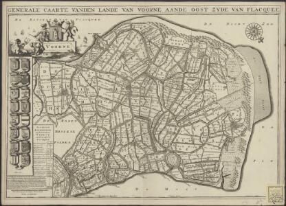 Generale caarte vanden lande van Voorne aande oost zyde van Flacquee.