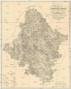 Uebersichts-Karte vom Olmützer-Kreise des Markgrafthumes-Maehren zum Administrations Gebrauche nach der astronomisch trigonometrisch basirten neuesten Aufnahme