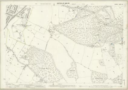 London (Edition of 1894-96) CLX (includes: Croydon St John The Baptist; Sanderstead) - 25 Inch Map