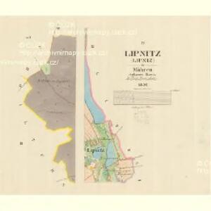 Lipnitz (Lipniz) - m1566-1-002 - Kaiserpflichtexemplar der Landkarten des stabilen Katasters
