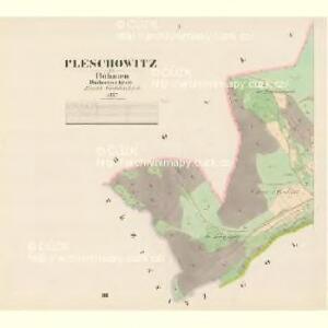 Pleschowitz - c5830-1-001 - Kaiserpflichtexemplar der Landkarten des stabilen Katasters