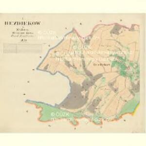 Bezdiekow - m0061-1-001 - Kaiserpflichtexemplar der Landkarten des stabilen Katasters