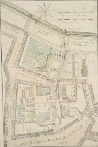 Drawn Plan of the Property of St. Barholomew's Hospital from Christ's Hospital to Smithfield