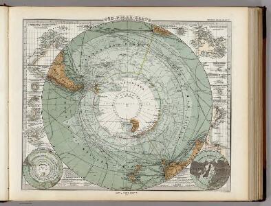 Sud-Polar-Karte. (Maasfstab 1:40,000,000).