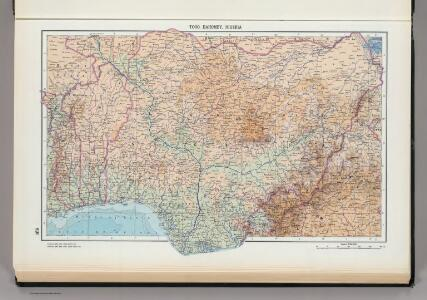 169.  Togo, Dahomey, Nigeria.  The World Atlas.