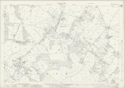 Kent LXV.16 (includes: Brabourne; Smeeth) - 25 Inch Map