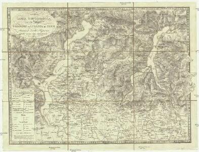 Nuova carta topografica dei tre laghi Maggiore, di Lugano e di Como