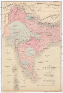 Carte de l'Inde moderne
