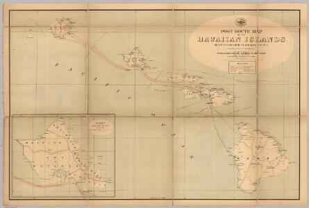 Post Route Map Of The Hawaiian Islands.
