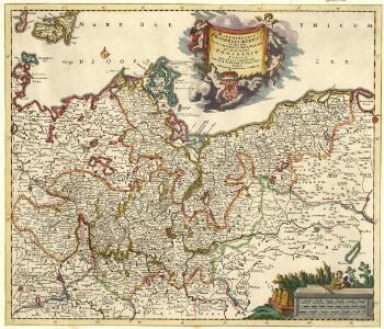 Marchionatus Brandenburgensis in quo sunt Vetus Media et Nova Marchia et Ducatus Pomeraniae Tabula Quae est pars Septentrionalis Circuli Saxoniae Superioris