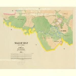 Malletitz (Maletice) - c4416-1-003 - Kaiserpflichtexemplar der Landkarten des stabilen Katasters