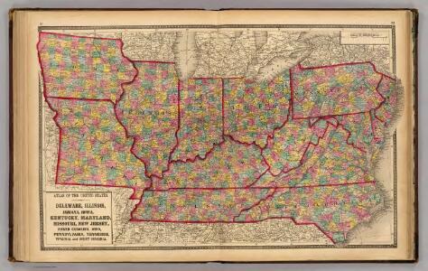 Delaware, Illinois, Indiana, Iowa ... North Carolina ... Tennessee, Virginia.