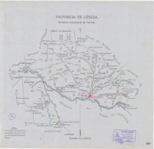 Mapa planimètric de Cervià de les Garrigues
