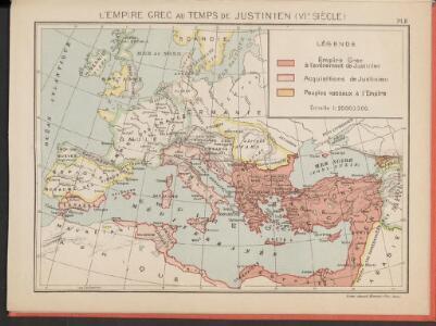 L'Empire Grec au temps de Justinien (VI.e siècle)