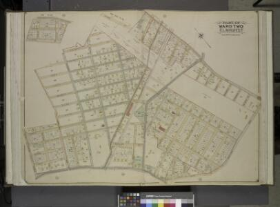 Queens, Vol. 2, Double Page Plate No. 15; Part of     Ward Two Elmhurst; [Map bounded by Division St., Junction Ave., Newtown Road,    Court St., Broadway, Astoria and Flushing Turnpike, Orchard Ave.; Including 12th St., 11th St., 10Th St., 9th St., 8