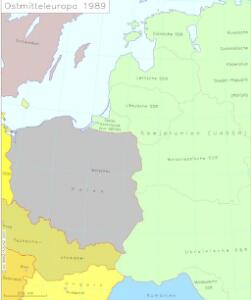 Ostmitteleuropa 1989