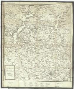 Carta di viaggio da Milano ai tre laghi Maggiore di Lugano e di Como e nelle loro vicinanze