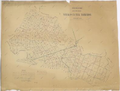 Přehledná porostní mapa velkostatku Trhanov