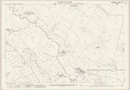 Derbyshire XXVII.7 (includes: Hartington Middle Quarter; Hartington Town Quarter; Longnor; Sheen) - 25 Inch Map