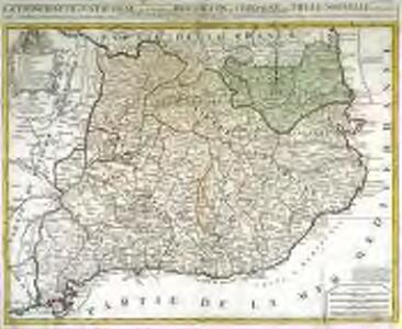 La principauté de Catalogne auec les comtez de Roussillon et de Cerdagne