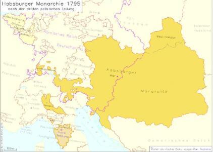 Habsburger Monarchie 1795 nach der dritten polnischen Teilung