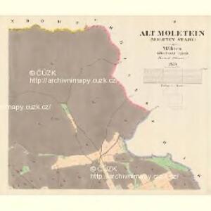 Alt Moletein (Moletin Stary) - m2870-1-002 - Kaiserpflichtexemplar der Landkarten des stabilen Katasters