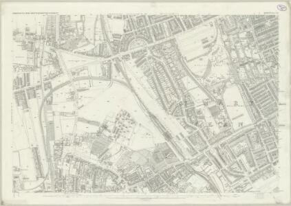 London (First Editions c1850s) XLI (includes: Fulham; Hammersmith; Kensington) - 25 Inch Map