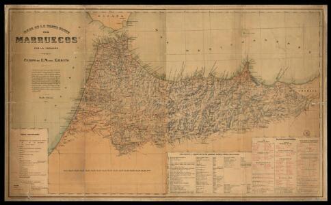Mapa de la parte norte de Marruecos / por la Comisión de Cuerpo de E.M. del Ejercito ; Talleres del Depósito de la Guerra