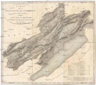 Carte de la principauté de Neuchatel