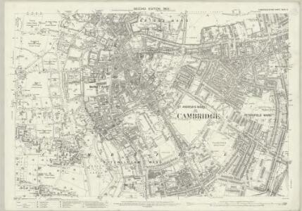 Cambridgeshire XLVII.2 (includes: Cambridge) - 25 Inch Map