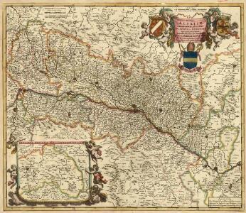 Utriusque Alsatiae Landgraviatus Ducatus Dupontii et Spirensis Episcopatus Nova Tabula