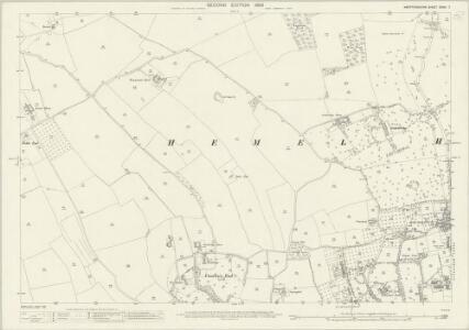 Hertfordshire XXXIII.7 (includes: Hemel Hempstead) - 25 Inch Map