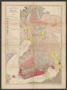 Geologische Übersichtskarte von Finland und den angrenzenden Landteilen