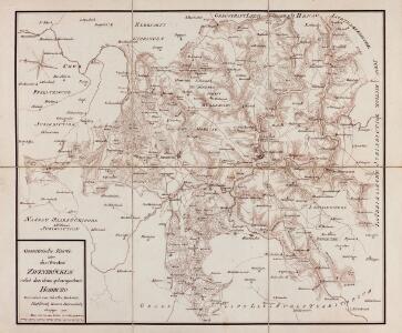 Geometrische Karte über das OberAmt Zweybrücken nebst dem dazu gehoerigen Amte Homburg