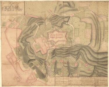 Plan dv Chateau Sr. Elme et de ses Environs dv costé de la campagne et de Partie de la Ville