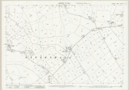 Cheshire XLVII.15 (includes: Tattenhall) - 25 Inch Map