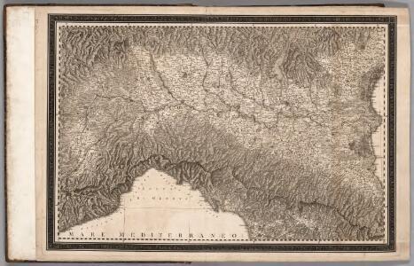 Northern Italy, by Giovanni Antonio Rizzi Zannoni
