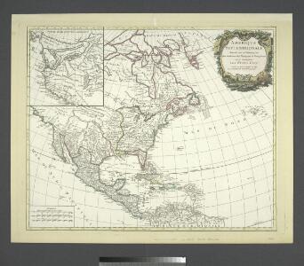 Amérique septentrionale dressée sur les relations les plus modernes des voyageurs et navigateurs ou se remarquent les Etats unis.