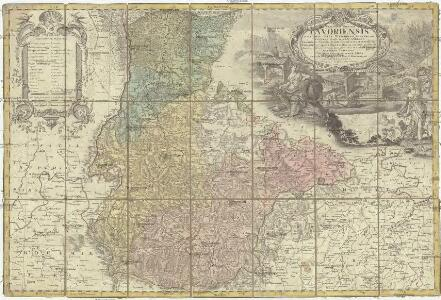 Princip. Silesiae Iavoriensis in IV. circulos, Iaver, Hirschberg, Lemberg und Bvntzlau divisi ac a I. W. Wieland