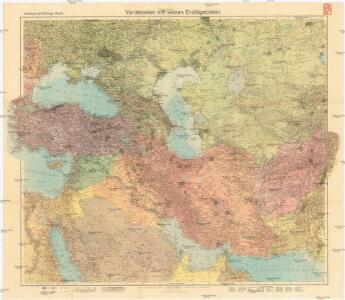 Velhagen & Klasings Karte Vorderasien mit seinen Erdölgebieten