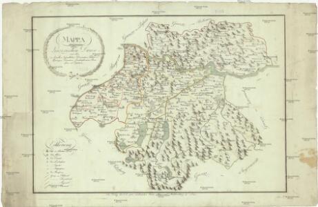 Mappa der Linzerischen Diocese samt allen in derselben befindlichen Decanaten, Klöster Pfarreyen, Vicariaten, Localcaplanieren, Beneficien und Exposituren
