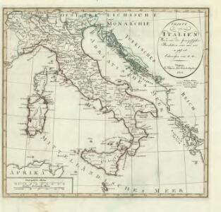 Charte von Italien: Wie es vor der französischen Revolution war und wie es jezt ist