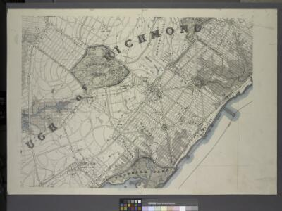 General map of the borough of Richmond (Staten Island) in the city of New York : showing in addition to the existing topographical features of the borough a tentative and preliminary plan for a street system of the same.